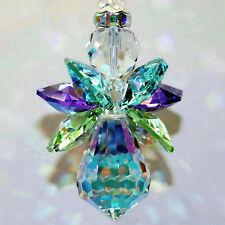 mw Swarovski Crystal RARE AB PEACOCK Color Wings - Rare AB Body Angel Suncatcher