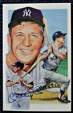 Mickey Mantle Legends Post Card Signed Autographed Yankees HOF JSA Authenticated