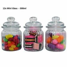 12 Glass Apothecary Candy Lolly Buffet Jar Candle Waxing, Wedding & Party 300ml