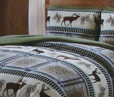Remington Antler Ridge Deer Pinecones Wildlife 6 pc Twin Comforter Sheet Set