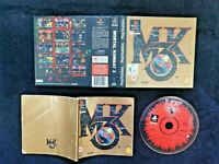 SONY PS1 MK3 - MORTAL KOMBAT 3 - CIB - GAME IN CASE WITH MANUAL - AUS SELLER PAL