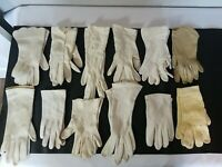 VINTAGE LOT 12 PAIRS OF LADIES GLOVES VARIOUS SIZES AND STYLES