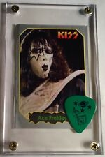 Very Rare Ace Frehley Argentina Rock sticker + Farewell tour guitar pick display