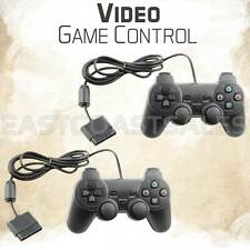 2x Black Twin Shock Video Game Controller Pad for Sony PS2 Playstation 2 Console