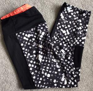 M&S Ladies Active Wear Ladies 3/4 Length Lycra Workout Leggings Size 14
