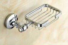 Polished Chrome Brass Bathroom Accessory Soap Dish Holder Wall Mount fba810