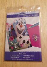 Walt Disney Frozen Movie Film Thank You Postcards Cards Envelopes Seals Party
