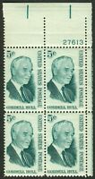 #1235 5c Cordell Hull, Plate Block [27613 UR], Mint **ANY 4=FREE SHIPPING**