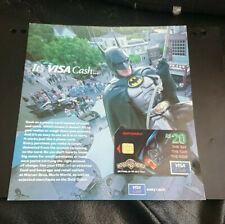 1997 $20 - VISA CASH CARD - *BATMAN* - IN ORIGINAL FOLDER OF ISSUE - MINT - 3/97