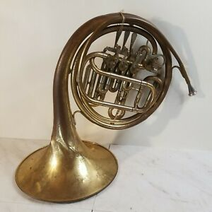 VINTAGE ELKHORN By GETZEN DOUBLE FRENCH HORN WITH MOUTHPIECE MADE IN USA