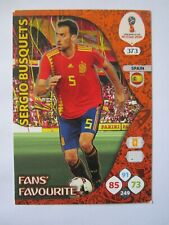 World Cup Russia 2018 Fans Favourite card - Sergio Busquets of Spain