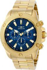 Invicta Pro Diver Quartz Chrono Brushed Polished & Knurled Gold Tone Steel Watch