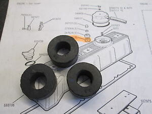 ROVER P6 2000/2200 CAM COVER TOP SEALS (SET OF 3)
