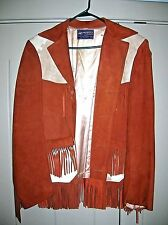 VINTAGE PADDOCK SHOPS ROCKABILLY COW FUR COW SKIN SHOW JACKET