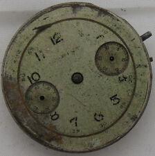 Landeron 39 chronograph mens wristwatch movement & dial 33 mm. in diameter