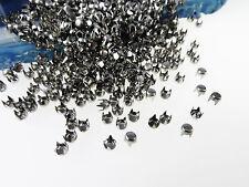 100 Stück Rundnieten 3mm mini rostfrei Nieten Kegelnieten Ziernieten Gothic, A39
