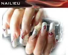 """GEL UV FRENCH """" nail1eu ARGENTO """" 5 ML / per unghie colorato"""