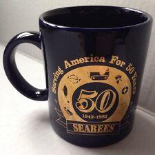 1992 U. S. NAVY SEABEES COFFEE MUG, 50th ANNIVERSARY, NMCB