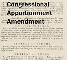 Congressional Apportionment Amendment.com Ratified 1st Amendent Bill of Rights