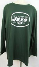 New York Jets Womens Plus Size 1X Long Sleeve Screen Printed T-Shirt AJET 133