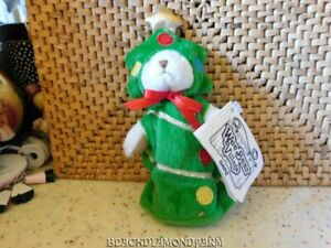 GANZ STUFFED CHRISTMAS TREE BEAR WEE BEAR* CUTE *