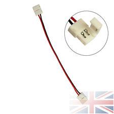 10x 5630 SINGOLO COLORE LED Striscia 10mm LUCI PCB Connettore Adattatore Plug Striscia UK