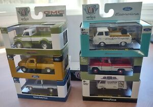 M2 Auto-thentics Auto Show Truck SET OF 6 Squarebody Goodyear Ford Chevy R63