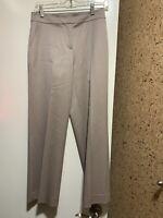 NWOT St. John  Stretch Wool Cropped  Dress Straight Pants In Beige Sz 2, $495