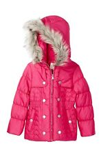 Jessica Simpson Heart Quilt Faux Fur Hooded Parka (Little Girls) Sz M (5-6) $80