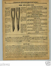 1929 PAPER AD OVB Our Very Best Axe Axes How & Why they are made way they are