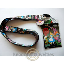 Lanyard with Soft Touch Dangle - Alice Cute Fun Key ID Holder Clip