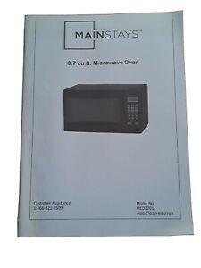Mainstays 0.7 cu ft Microwave Oven / Model# MED2701/MED2702/MED2703/ MANUAL ONLY