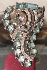 Antique Art Deco 1930's Eisenberg Jewelry Fur Pin Brooch