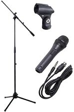 Professional Microphone & Stand / Boom with XLR Lead, Holder and Carry Bag