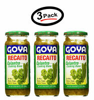 (3 Pack) Goya RECAITO Culantro Cilantro Cooking Base 12 Oz. - New - FREE SHIP