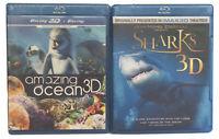 New Sharks 3D & Amazing Ocean 3D Blu-ray Disc Jean-Michael Cousteau Eicher Mayer