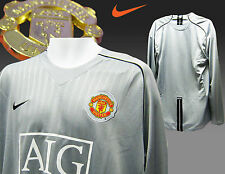 Manchester United Player Issue Goalkeepers Shirt Silver Grey