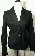 Ann taylor loft black cotton blend long sleeve blazer size 6