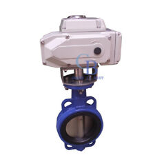 "AC220V 4"" DN100 Motorized Butterfly Valve Wafer Type EPDM Sealing"