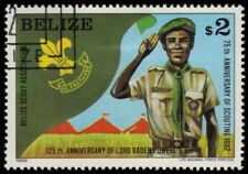 "BELIZE 643 (SG692) - Boy Scouts 75th Anniversary ""Scout Saluting"" (pa54972)"