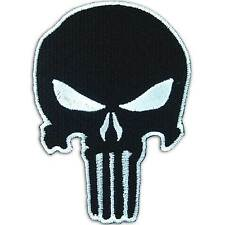 Punisher Skull Army Swat Navy Seals Black Embroidered Iron on Patch