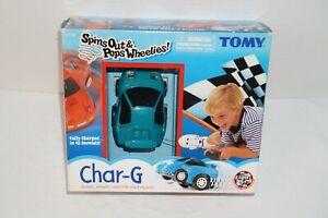 TOMY Bit Char-G Spins Out & Pops Wheelies RC Car Vintage