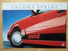 OPEL ASCONA SPRINT orig 1986 German Mkt Sales Brochure Prospekt