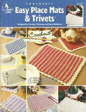 Easy Place Mats & Trivets Crochenit Pattern Instruction Book Annie's Attic NEW