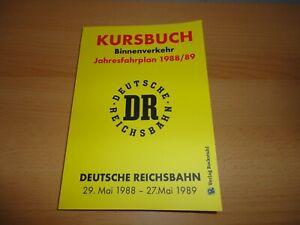 Kursbuch der Deutschen Reichsbahn 1988/89 (Nachdruck) Rockstuhl Verlag