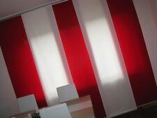 ♥ Drei IKEA Schiebevorhänge Flächenvorhänge ♥ Rot Blickdicht ♥ 60 x 225 / 230cm