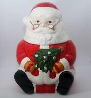 "Santa Claus Cookie Jar Gibson Ceramic 10"" 1997 Christmas Holiday With Box"