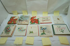 VINTAGE CHRISTMAS CARDS LOT 57 PC ALL 1950s UNUSED GREETING CARDS BIRDS TREE ee