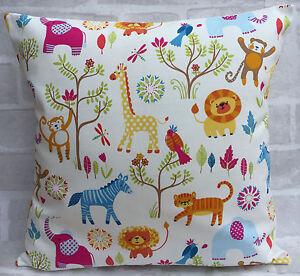 Jungle Zoo Boogie Safari Animals Theme cushion cover All sizes 16 inch