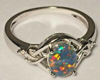 "Opal Rings Genuine Australian Natural ""Gem Grade"" Triplets - Sizes 6 to 7.5 US"